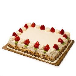 Sheet Cake Strawberry And Cream